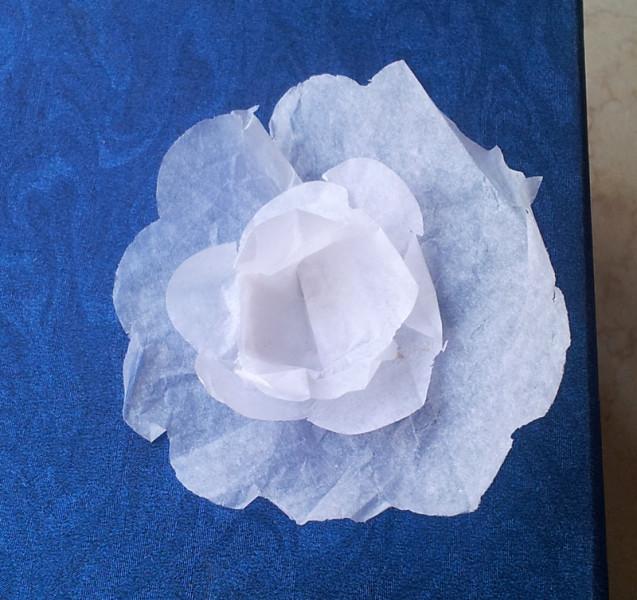 tissue paper lotus blossom